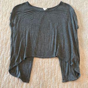 ⭐️⭐️Garage dark grey shirt with open back